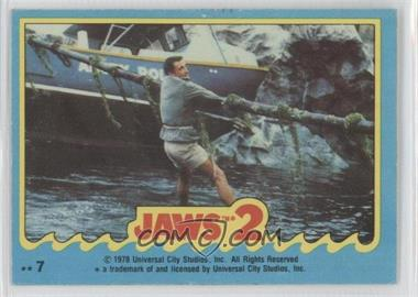 1978 Topps Jaws 2 - Stickers #7 - Jaws 2