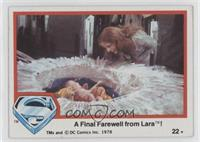 A Final Farewell from Lara