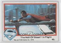 The Man Of Steel In Flight