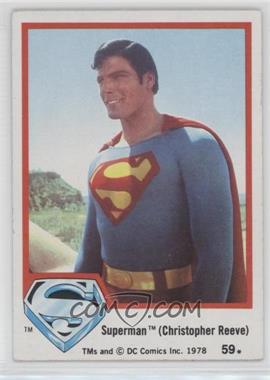 1978 Topps Superman The Movie - [Base] #59 - Superman (Christopher Reeve)