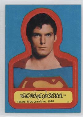 1978 Topps Superman The Movie - Stickers #MAST.1 - The Man of Steel (S Visible on Costume) [GoodtoVG‑EX]