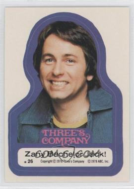 1978 Topps Three's Company - Stickers #26 - Zany Bachelor Jack!