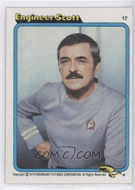 1979 Topps Star Trek: The Motion Picture - [Base] #17 - Engineer Scott