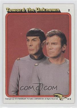 1979 Topps Star Trek: The Motion Picture - [Base] #2 - Toward the Unknown