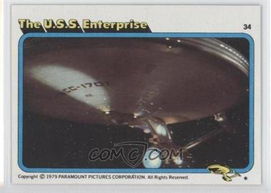 1979 Topps Star Trek: The Motion Picture - [Base] #34 - The U.S.S. Enterprise