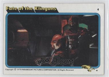 1979 Topps Star Trek: The Motion Picture - [Base] #4 - Fate of the Klingons
