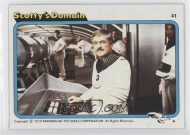 1979 Topps Star Trek: The Motion Picture - [Base] #41 - Scotty's Domain