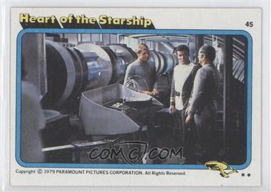 1979 Topps Star Trek: The Motion Picture - [Base] #45 - Heart of the Starship