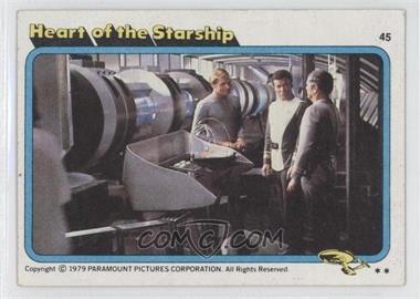 1979 Topps Star Trek: The Motion Picture - [Base] #45 - Heart of the Starship [Good to VG‑EX]