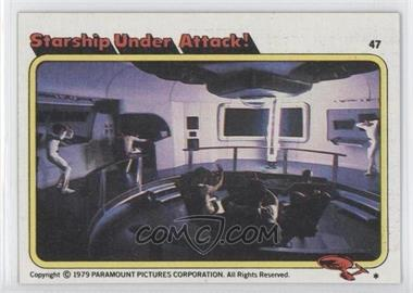 1979 Topps Star Trek: The Motion Picture - [Base] #47 - Starship Under Attack!
