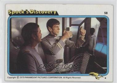 1979 Topps Star Trek: The Motion Picture - [Base] #58 - Spock's Discovery [Good to VG‑EX]