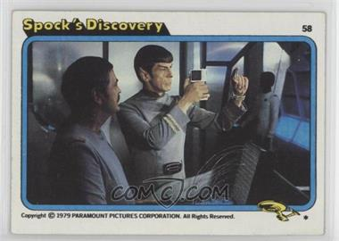 1979 Topps Star Trek: The Motion Picture - [Base] #58 - Spock's Discovery