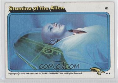 1979 Topps Star Trek: The Motion Picture - [Base] #61 - Stamina of the Alien