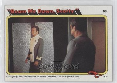 "1979 Topps Star Trek: The Motion Picture - [Base] #66 - ""Beam Me Down, Scotty"""