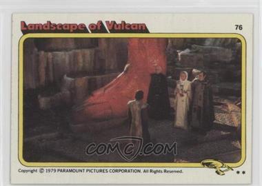 1979 Topps Star Trek: The Motion Picture - [Base] #76 - Landscape of Vulcan