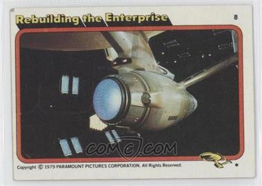 1979 Topps Star Trek: The Motion Picture - [Base] #8 - Rebuilding the Enterprise