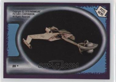 1979 Topps Star Trek: The Motion Picture - Stickers #20 - Klingon Starship