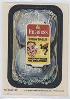 Hopeless Snow Balls (Two Stars)