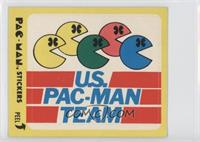 U.S. Pac-Man Team (With Eyes) [Good to VG‑EX]
