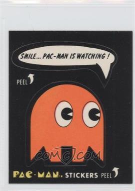 1980 Fleer Pac-Man Stickers - [Base] #38.1 - Smile… Pac-Man Is Watching! (No Eyes) [GoodtoVG‑EX]