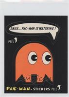 Smile…Pac-Man Is Watching! (with eyes, blue back) [GoodtoVG‑E…