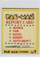 Pac-Man Report Card (No Eyes)