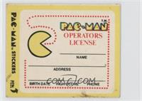 Pac-Man Operators License (No Eyes)