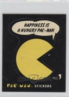 Hapiness is a Hungry Pac-Man (No Eyes, Black Back)