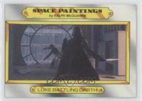 Luke battling Darth