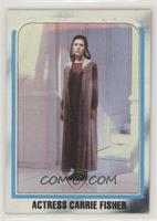Actress Carrie Fisher (Incomplete Top Border)