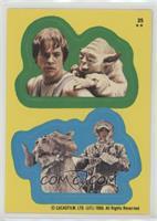 Luke Skywalker, Yoda, Han Solo, Tauntaun