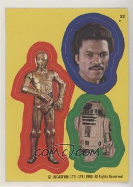 1980 Topps Star Wars: The Empire Strikes Back - Stickers #32 - C-3PO, Lando Calrissian, R2-D2