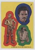 C-3PO, Lando Calrissian, R2-D2
