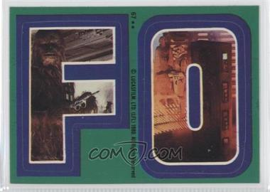 1980 Topps Star Wars: The Empire Strikes Back - Stickers #67 - F O