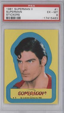 1980 Topps Superman II - Puzzle Stickers #1 - Superman [PSA6EX‑MT]