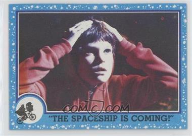 """1982 Topps E.T. The Extra Terrestrial in His Adventure on Earth - [Base] #70 - """"the Spaceship Is Coming!"""""""