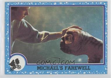 1982 Topps E.T. The Extra Terrestrial in His Adventure on Earth - [Base] #72 - Michael's Farewell