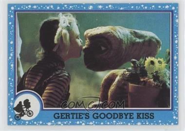 1982 Topps E.T. The Extra Terrestrial in His Adventure on Earth - [Base] #74 - Gertie's Goodbye Kiss