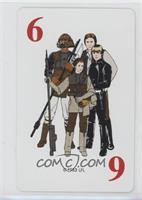 Lando Calrissian, Han Solo, Princess Leia Organa, Luke Skywalker