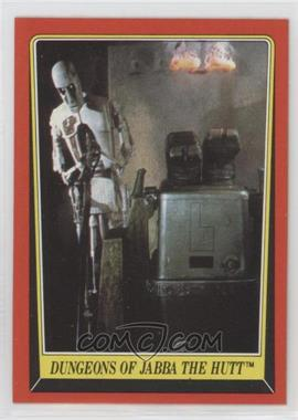 1983 Topps Star Wars: Return of the Jedi - [Base] #18 - Dungeons of Jabba The Hutt