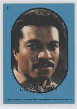 1983 Topps Star Wars: Return of the Jedi - Stickers #17.1 - Lando Calrissian (Blue)