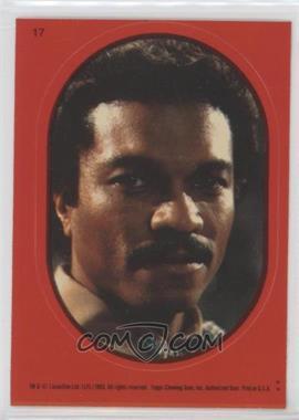 1983 Topps Star Wars: Return of the Jedi - Stickers #17.2 - Lando Calrissian (Red)