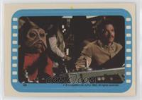 Nien Nunb and Lando at the helm