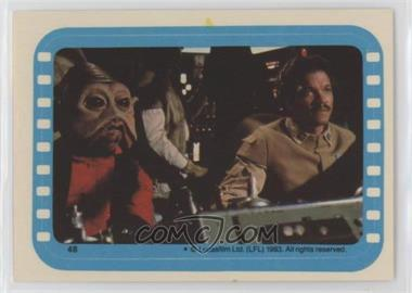 1983 Topps Star Wars: Return of the Jedi - Stickers #48 - Nien Nunb and Lando at the helm