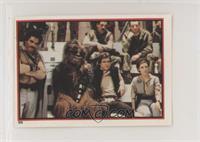 Lando Calrissian, Chewbacca, Han Solo, Leia Organa