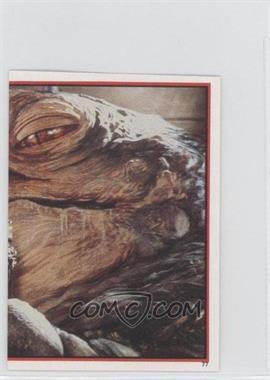 1983 Topps Star Wars: Return of the Jedi Album Stickers - [Base] #77 - Leia Organa, Jabba The Hutt