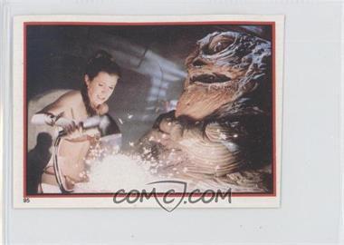 1983 Topps Star Wars: Return of the Jedi Album Stickers - [Base] #95 - Leia Organa, Jabba The Hutt