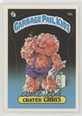 1985 Topps Garbage Pail Kids Series 1 - [Base] #19b.2 - Crater Chris (two star back)