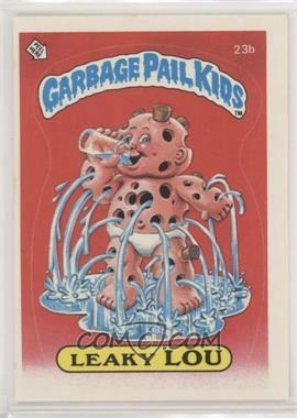 1985 Topps Garbage Pail Kids Series 1 - [Base] #23b.2 - Leaky Lou (two star back)