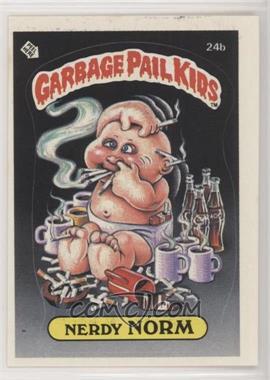 1985 Topps Garbage Pail Kids Series 1 - [Base] #24b.2 - Nerdy Norm (Two Star Back)